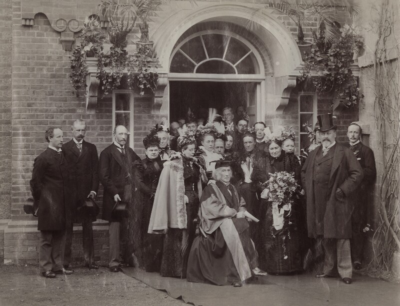 The opening of new buildings at the Sarah Acland Nursing Home, by Hills & Saunders, 12 May 1897 - NPG x29596 - © National Portrait Gallery, London