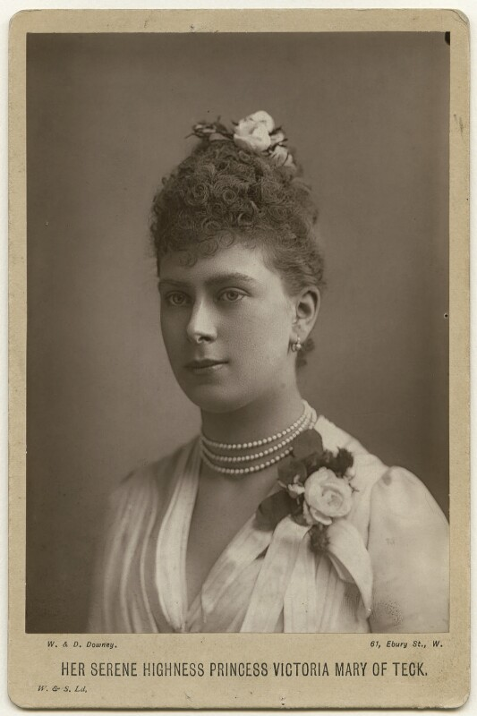 Queen Mary, by W. & D. Downey, 1889 - NPG x29780 - © National Portrait Gallery, London
