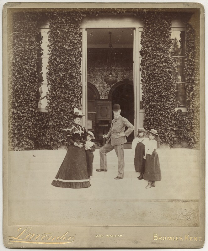 John Lubbock, 1st Baron Avebury and family, by Edgar Davey Lavender, early 1890s - NPG x29790 - © National Portrait Gallery, London