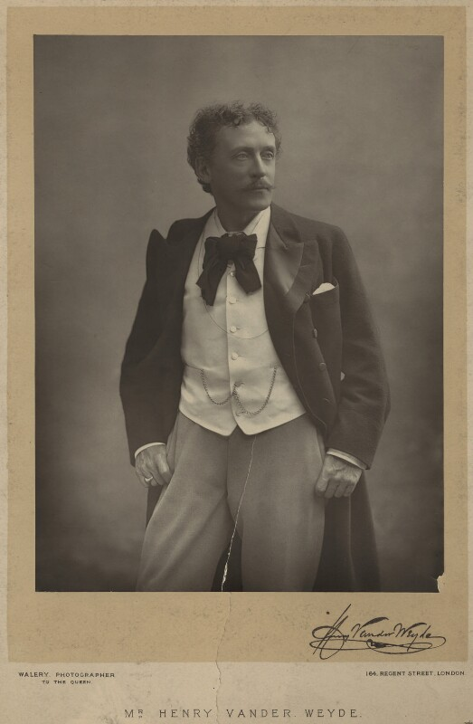 Henry Van der Weyde, by Walery, published November 1891 - NPG x29911 - © National Portrait Gallery, London