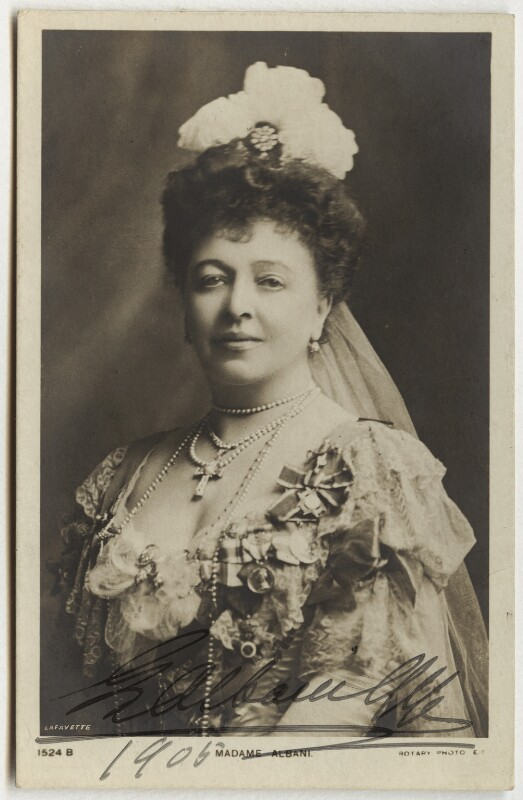 Emma Albani, by Lafayette (Lafayette Ltd), circa 1904 - NPG x30 - © National Portrait Gallery, London