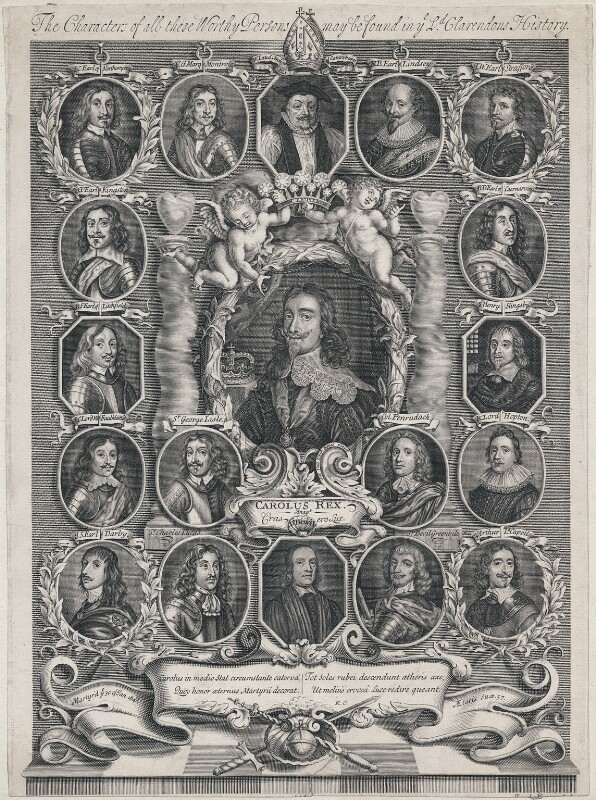 King Charles I and his Supporters, by Joseph Nutting, early 18th century - NPG D10634 - © National Portrait Gallery, London