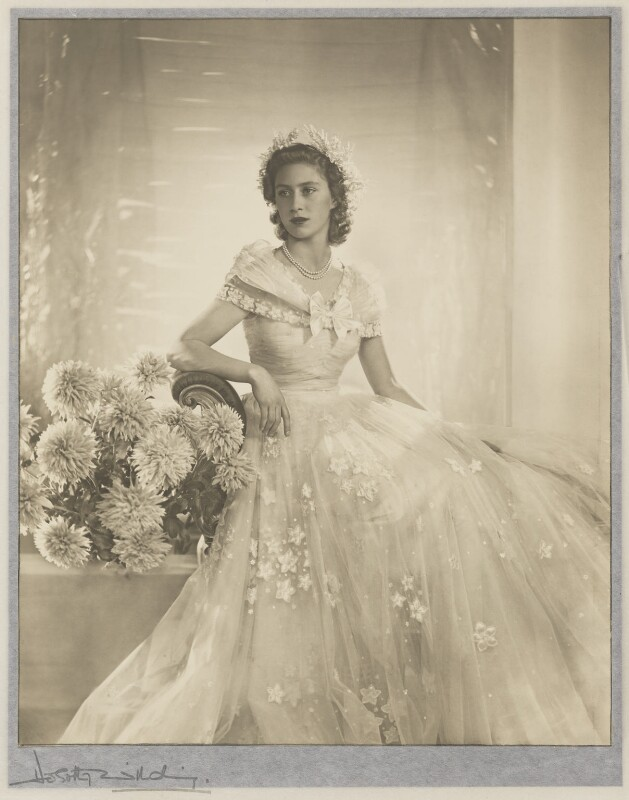 Princess Margaret, by Dorothy Wilding, November 1947 - NPG P870(12) - © William Hustler and Georgina Hustler / National Portrait Gallery, London
