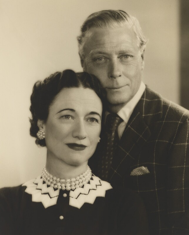 Wallis, Duchess of Windsor; Prince Edward, Duke of Windsor (King Edward VIII), by Dorothy Wilding, 7 February 1955 - NPG x33573 - © National Portrait Gallery, London