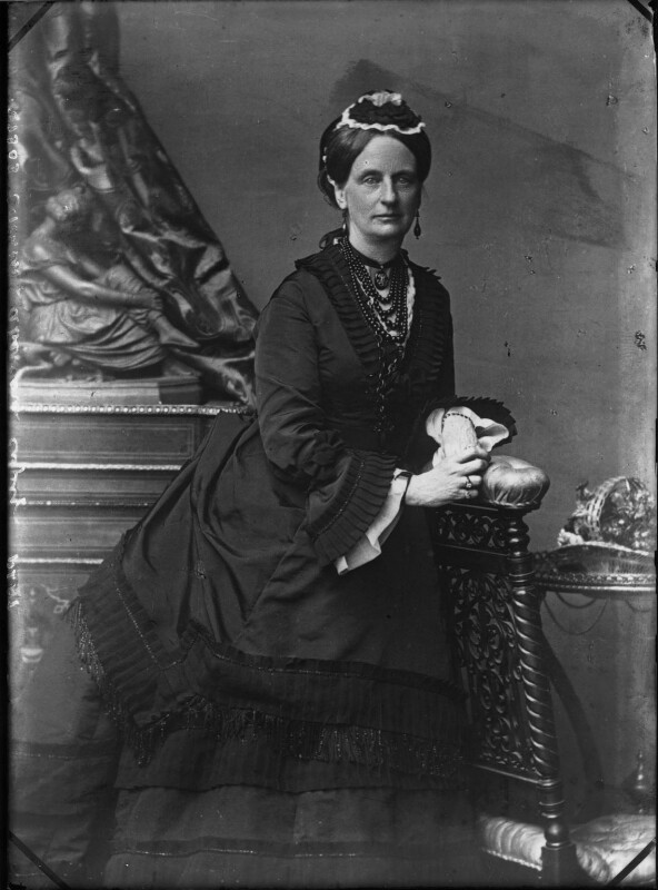 Louisa Jane (née Russell), Duchess of Abercorn, by Vandyk, 1880s - NPG x30750 - © National Portrait Gallery, London