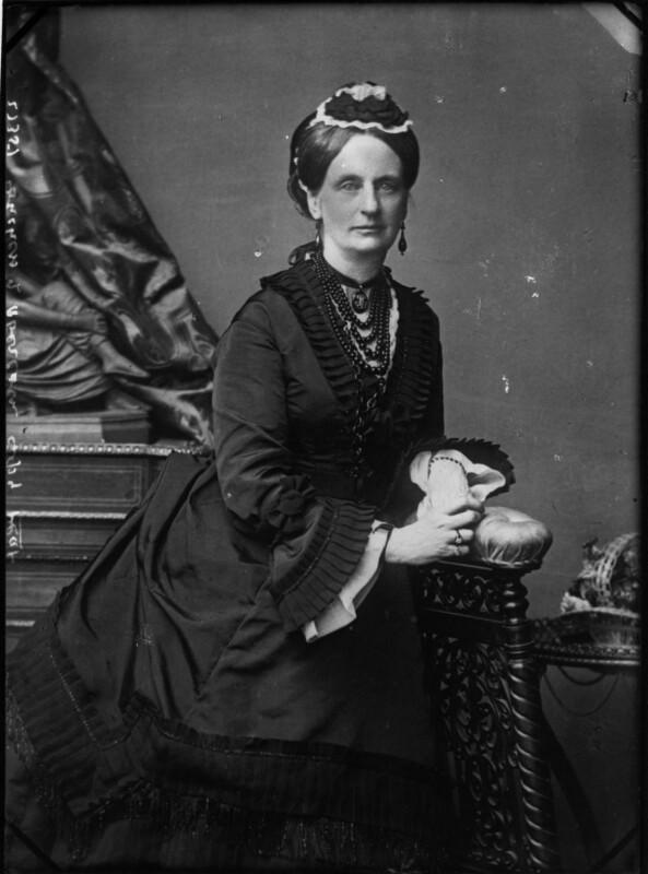 Louisa Jane (née Russell), Duchess of Abercorn, by Vandyk, 1880s - NPG x30756 - © National Portrait Gallery, London