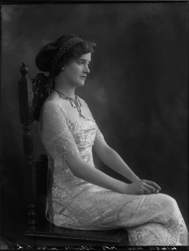 Lady Cynthia Mary Evelyn Asquith (née Charteris), by Bassano Ltd, 26 April 1912 - NPG x30856 - © National Portrait Gallery, London