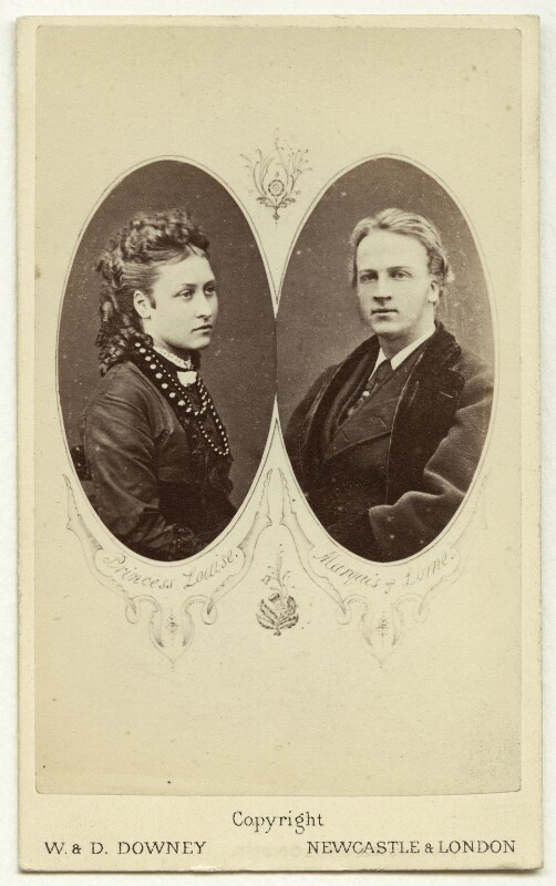 Carte-de-visite of 9th Duke of Argyll and wife., by W. & D. Downey, 1870 - NPG x31040 - © National Portrait Gallery, London