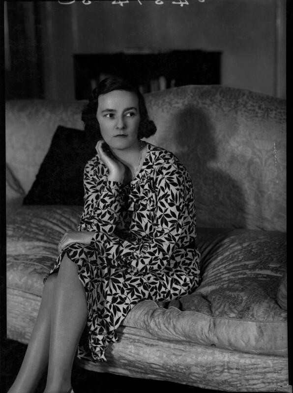 Eileen Laura Sargent (née Harding Horne), by Bassano Ltd, 22 June 1938 - NPG x31374 - © National Portrait Gallery, London