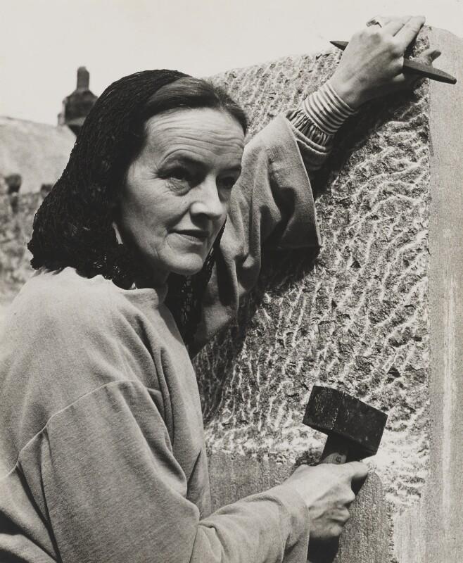 Barbara Hepworth, by Peter Keen, mid 1950s - NPG x35116 - © estate of Peter Keen / National Portrait Gallery, London