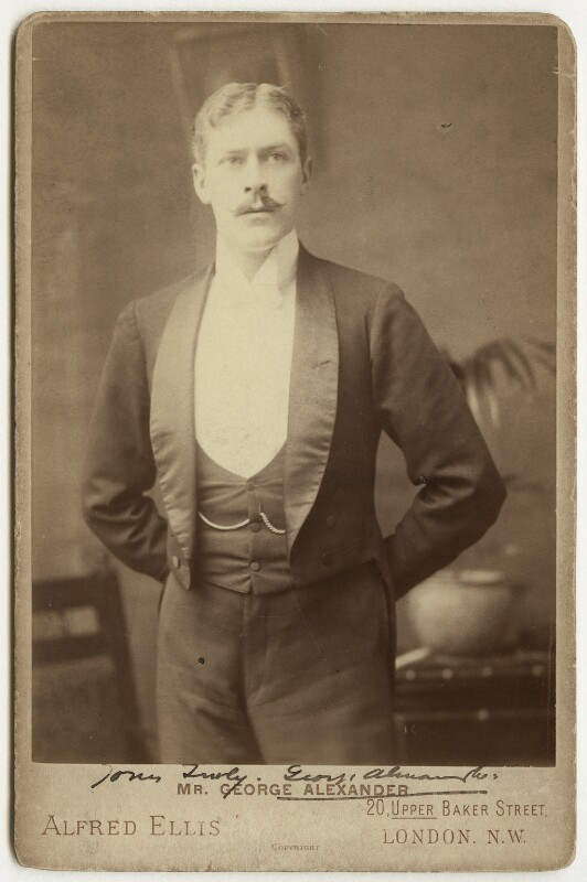 Sir George Alexander (George Samson), by Alfred Ellis, 1893 - NPG x31826 - © National Portrait Gallery, London