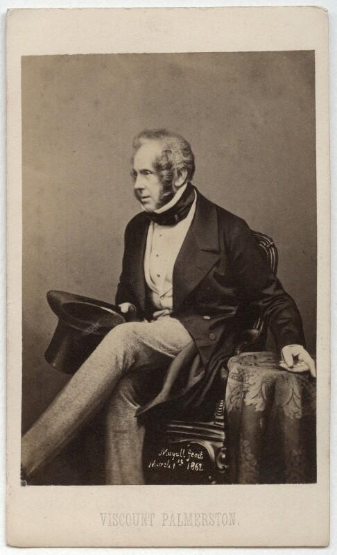 Henry John Temple, 3rd Viscount Palmerston, by John Jabez Edwin Mayall, circa 1857 - NPG x11965 - © National Portrait Gallery, London