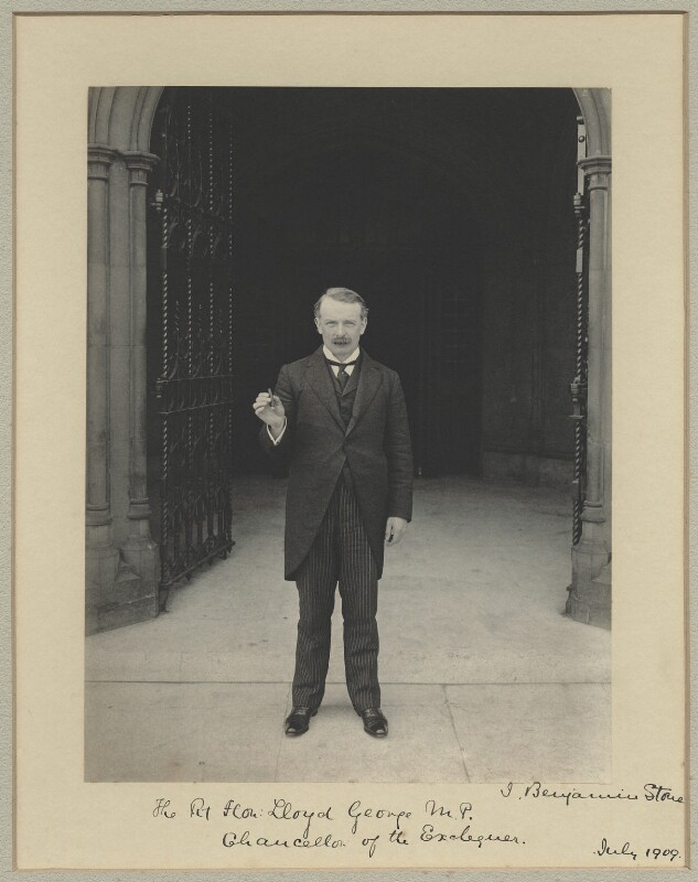 David Lloyd George, by Benjamin Stone, July 1909 - NPG x16034 - © National Portrait Gallery, London