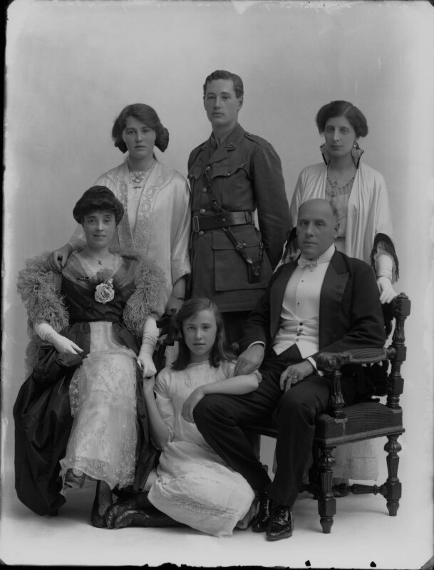 Sir Hugh Charles Clifford with his family, by Bassano Ltd, 30 June 1915 - NPG x32218 - © National Portrait Gallery, London