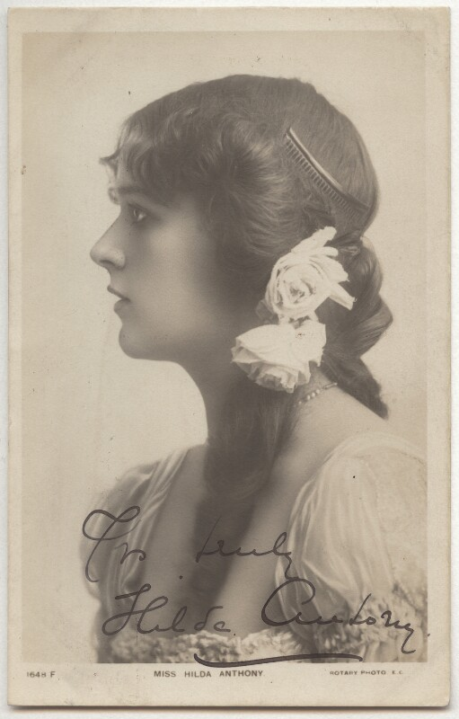 Hilda Anthony (Hilda Antonietti), printed by Rotary Photographic Co Ltd, 1900s - NPG x323 - © National Portrait Gallery, London