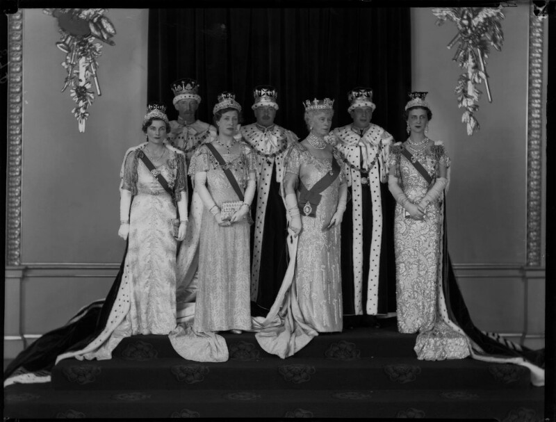 Royal group on the occasion of the coronation of King George VI, by Hay Wrightson, 12 May 1937 - NPG x32329 - © National Portrait Gallery, London