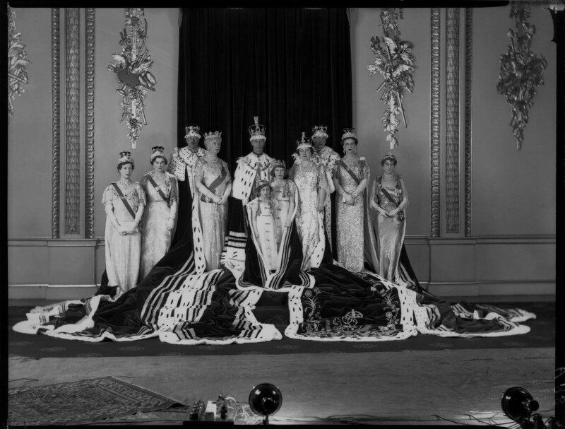 Royal group on the occasion of the coronation of King George VI, by Hay Wrightson, 12 May 1937 - NPG x32330 - © National Portrait Gallery, London