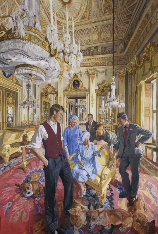 'The Royal Family: A Centenary Portrait', by John Wonnacott, 2000 - NPG 6479 - © John Wonnacott / National Portrait Gallery, London