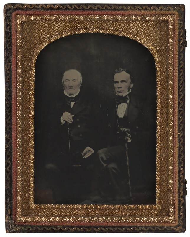 Luke Howard; John Eliot Howard (right), by Unknown photographer, circa 1855-1860 - NPG P784 - © National Portrait Gallery, London