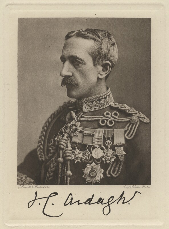 Sir John Charles Ardagh, by Sir Emery Walker, after  James Russell & Sons, mid 1890s-early 1900s - NPG x325 - © National Portrait Gallery, London