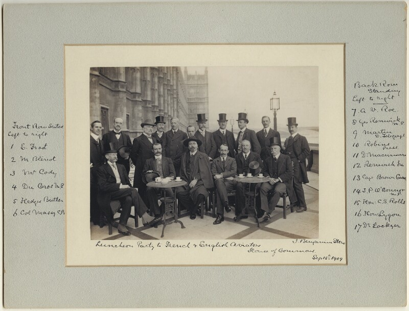Luncheon party to French and English Aviators, by Benjamin Stone, 15 September 1909 - NPG x32600 - © National Portrait Gallery, London