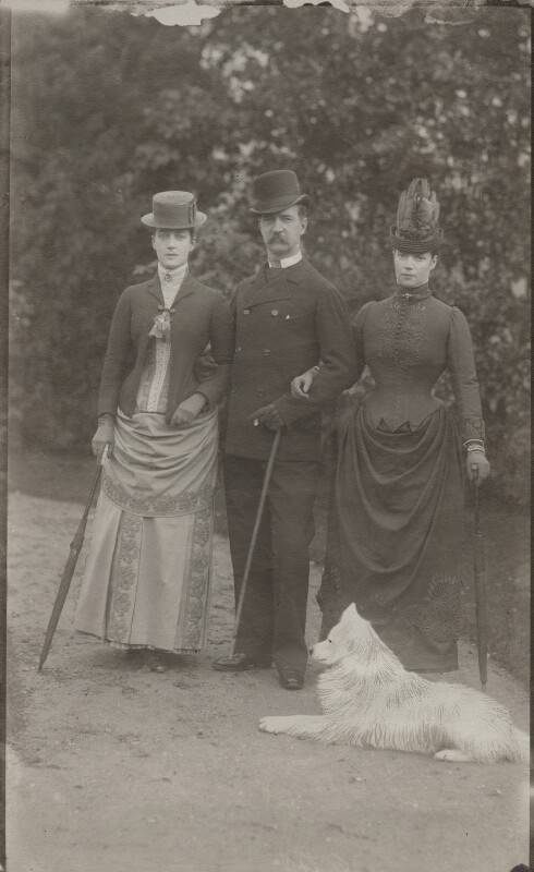 Queen Alexandra; Frederick VIII, King of Denmark; Maria Feodorovna, Empress of Russia (Princess Dagmar), by Unknown photographer, 1880 - NPG x32759 - © National Portrait Gallery, London