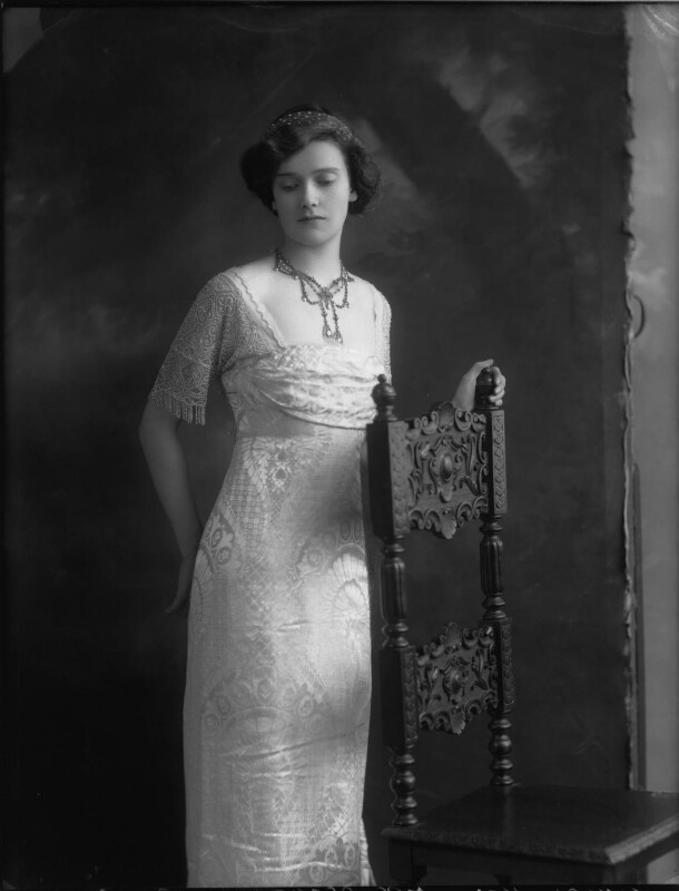 Lady Cynthia Mary Evelyn Asquith (née Charteris), by Bassano Ltd, 26 April 1912 - NPG x32899 - © National Portrait Gallery, London