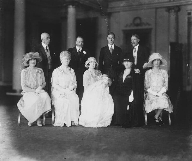 Christening of Queen Elizabeth II, by Vandyk, 29 May 1926 - NPG x32998 - © National Portrait Gallery, London