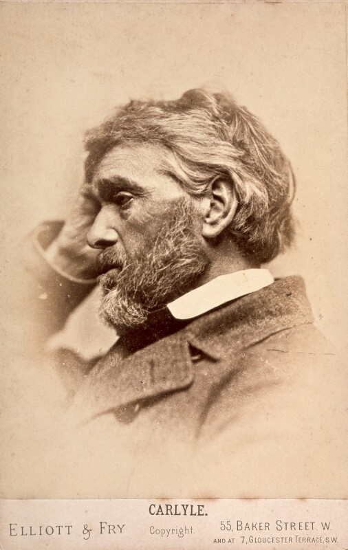 Thomas Carlyle, by Elliott & Fry, 1860s - NPG x5659 - © National Portrait Gallery, London
