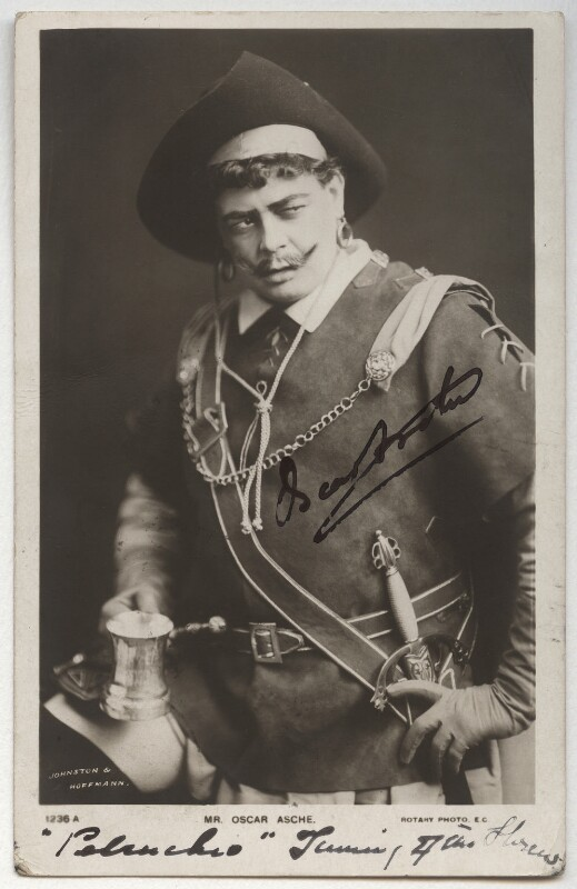 (Thomas Stange Heiss) Oscar Asche as Petruchio in 'The Taming of the Shrew', by Johnston & Hoffmann, published by  Rotary Photographic Co Ltd, circa 1904 - NPG x332 - © National Portrait Gallery, London