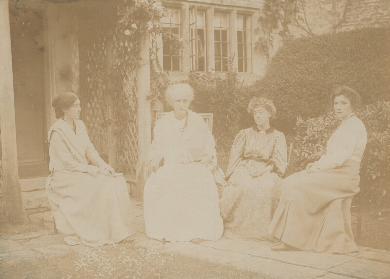 May Morris; Jane Morris (née Burden); Jane Alice ('Jenny') Morris; Ada Peerless, by Carter & Co, Summer 1905 - NPG x33259 - © National Portrait Gallery, London