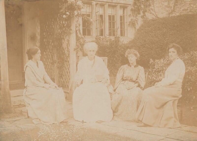 May Morris; Jane Morris (née Burden); Jane Alice ('Jenny') Morris; Ada Peerless, by Carter & Co, Summer 1905 - NPG x33259 - © National Portrait Gallery, London