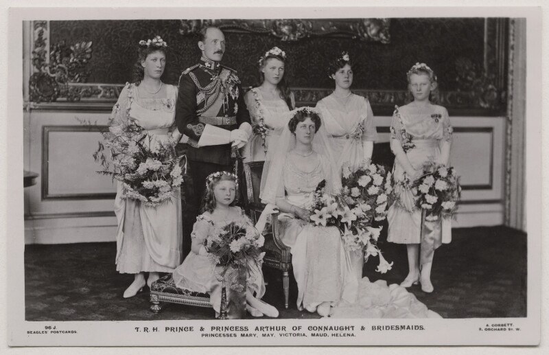 'T.R.H. Prince & Princess Arthur of Connaught  Bridesmaids', by Alexander Corbett, published by  J. Beagles & Co, 15 October 1913 - NPG x33261 - © National Portrait Gallery, London