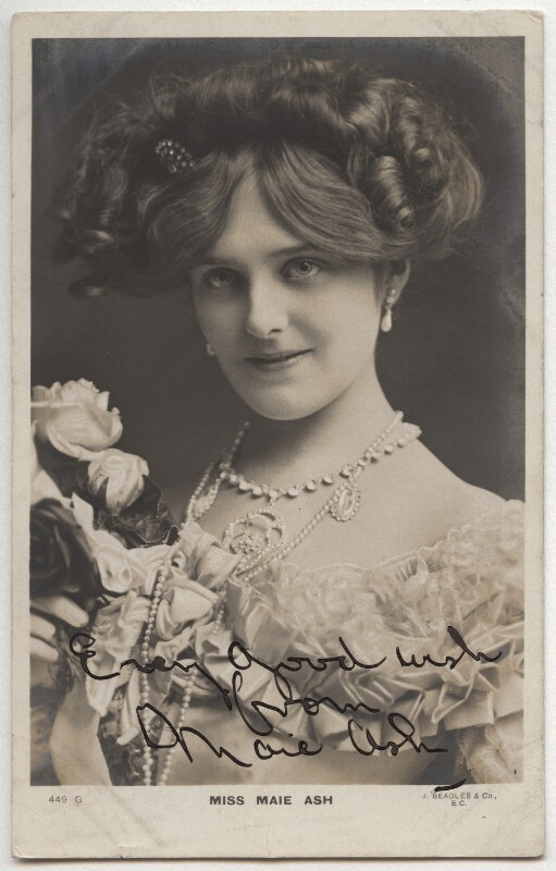 Maie Ash, printed by J. Beagles & Co, 1900s - NPG x333 - © National Portrait Gallery, London