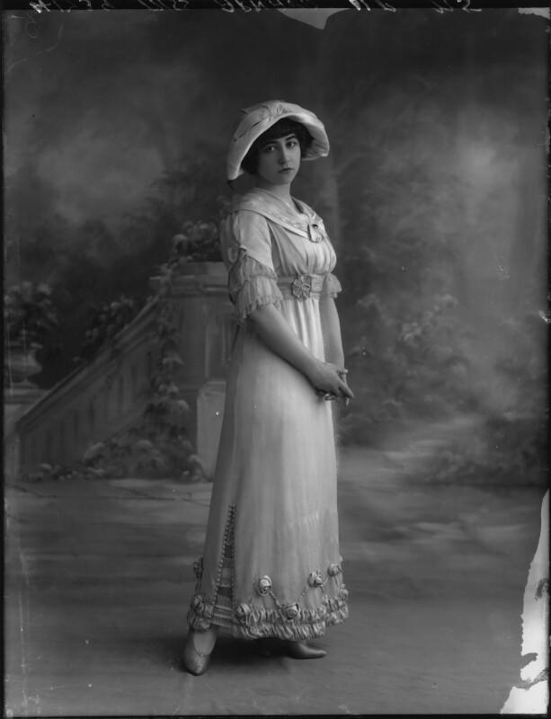 Yvonne Arnaud, by Bassano Ltd, 17 October 1912 - NPG x33370 - © National Portrait Gallery, London