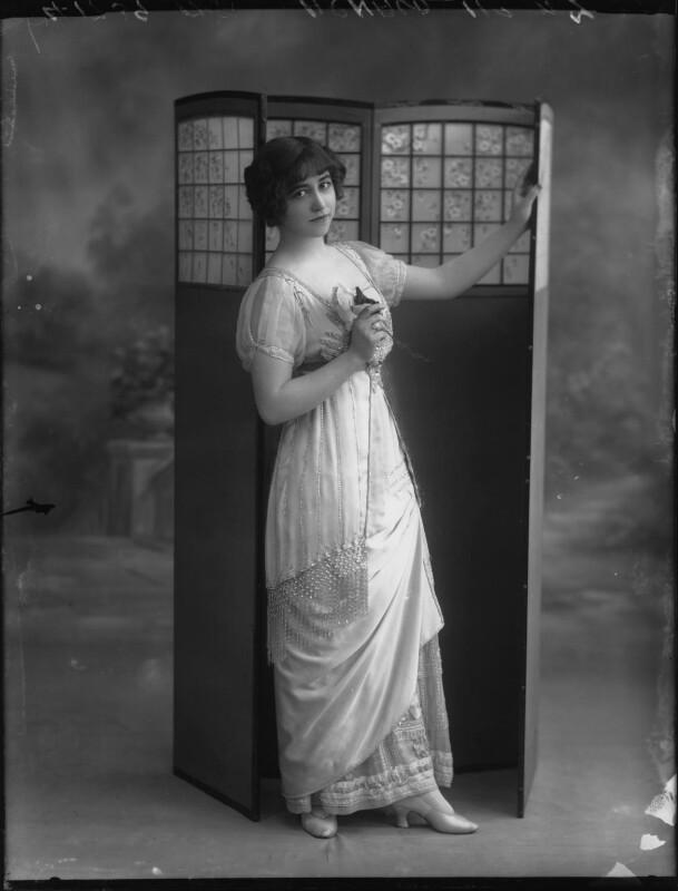 Yvonne Arnaud, by Bassano Ltd, 17 October 1912 - NPG x33372 - © National Portrait Gallery, London