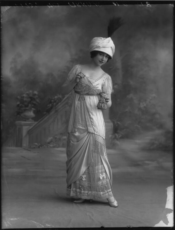 Yvonne Arnaud, by Bassano Ltd, 17 October 1912 - NPG x33373 - © National Portrait Gallery, London