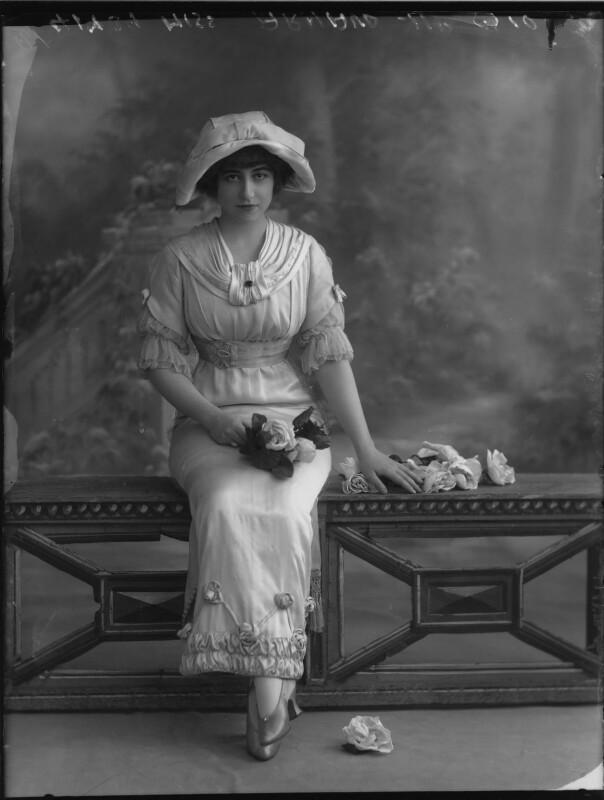 Yvonne Arnaud, by Bassano Ltd, 17 October 1912 - NPG x33375 - © National Portrait Gallery, London