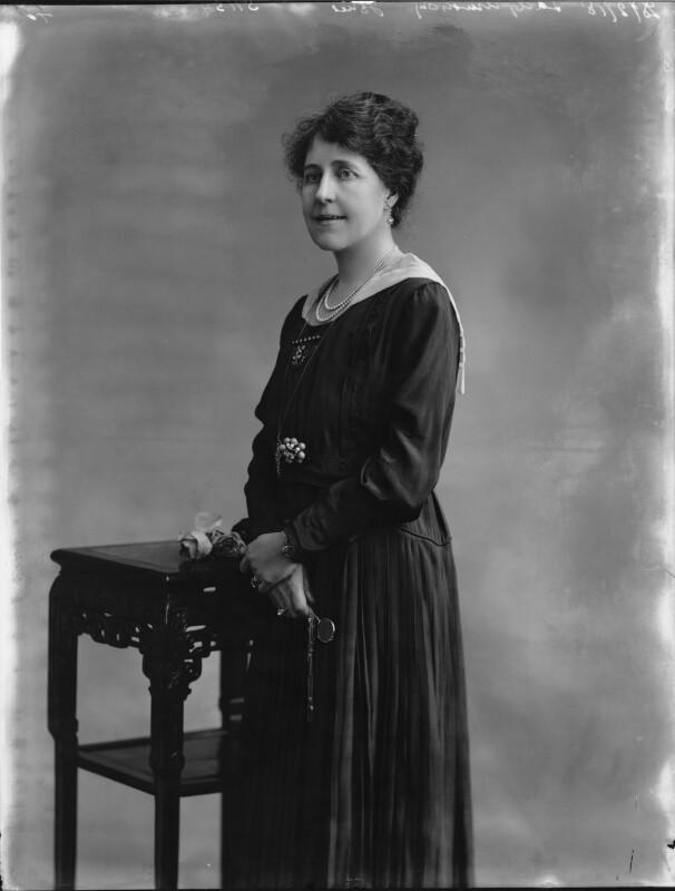 Margaret Elizabeth (née Roberts), Lady Armstrong-Jones, by Bassano Ltd, 28 February 1918 - NPG x33487 - © National Portrait Gallery, London