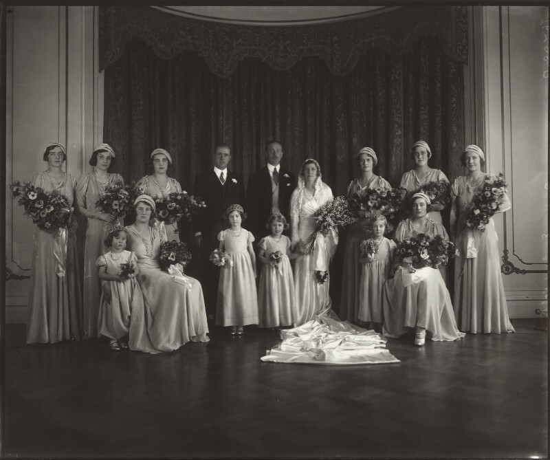 The Wedding of Lady May Cambridge and Henry Abel Smith, by Vandyk, 24 October 1931 - NPG x33562 - © National Portrait Gallery, London