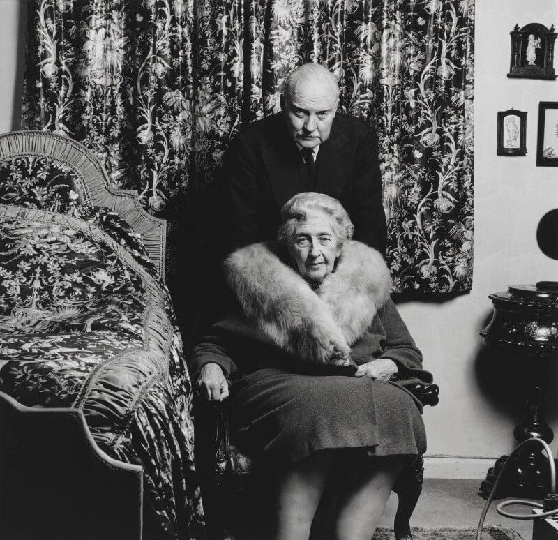 Agatha Christie; Sir Max Mallowan, by John Hedgecoe, 1969 - NPG P771 - © John Hedgecoe / Topfoto