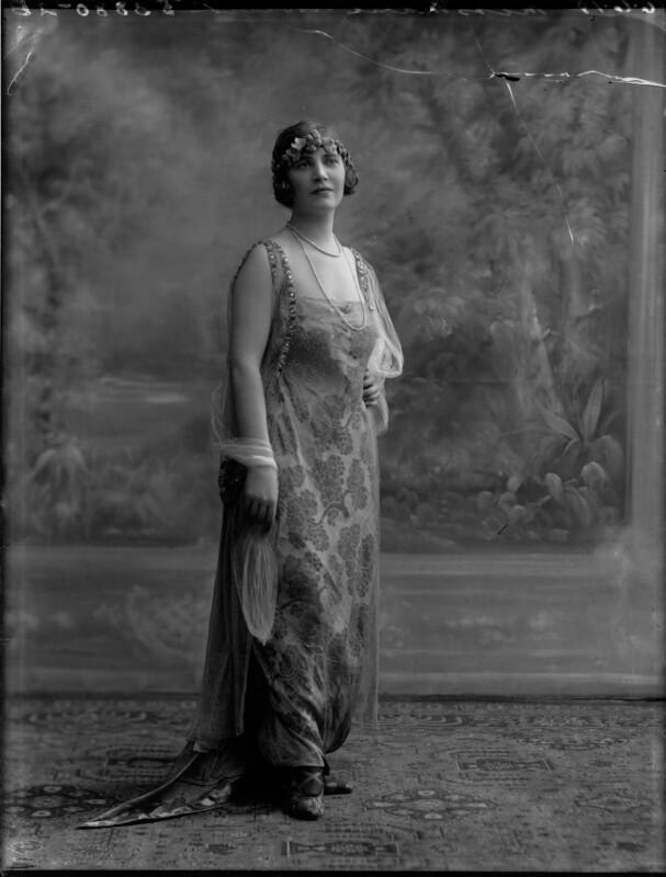 Marie Novello (née Williams), by Bassano Ltd, 6 June 1919 - NPG x33623 - © National Portrait Gallery, London