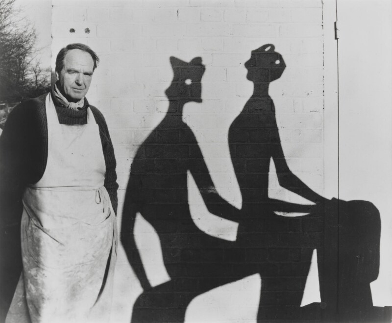 Henry Moore, by John Hedgecoe, circa 1953-1960 - NPG P774 - © John Hedgecoe / Topfoto