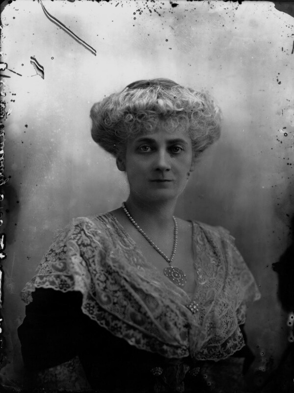 Alice Augusta Laurentia Lane (née Fox-Pitt-Rivers), Lady Avebury, by Bassano Ltd, 10 February 1911 - NPG x33822 - © National Portrait Gallery, London