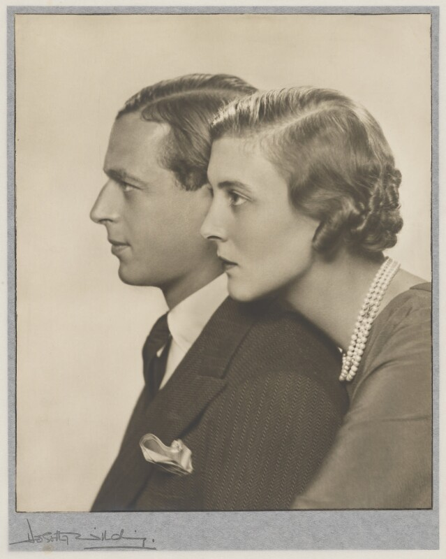 Prince George, Duke of Kent; Princess Marina, Duchess of Kent, by Dorothy Wilding, October 1934 - NPG x33887 - © William Hustler and Georgina Hustler / National Portrait Gallery, London