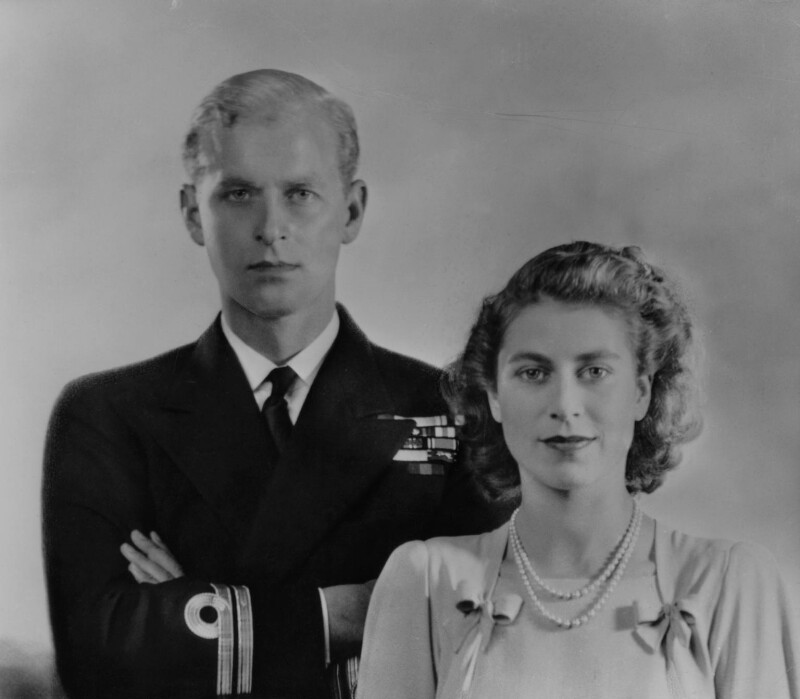 Npg X34084 Queen Elizabeth Ii Prince Philip, Duke Of Edinburgh -9299
