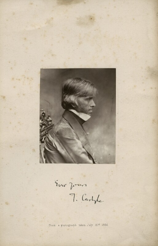 Thomas Carlyle, by Robert Scott Tait, 31 July 1854 - NPG x34156 - © National Portrait Gallery, London
