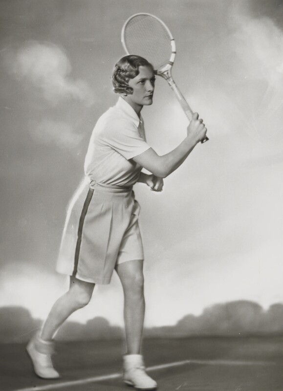Helen Hull Jacobs, by Dorothy Wilding, 1935 - NPG x34333 - © William Hustler and Georgina Hustler / National Portrait Gallery, London