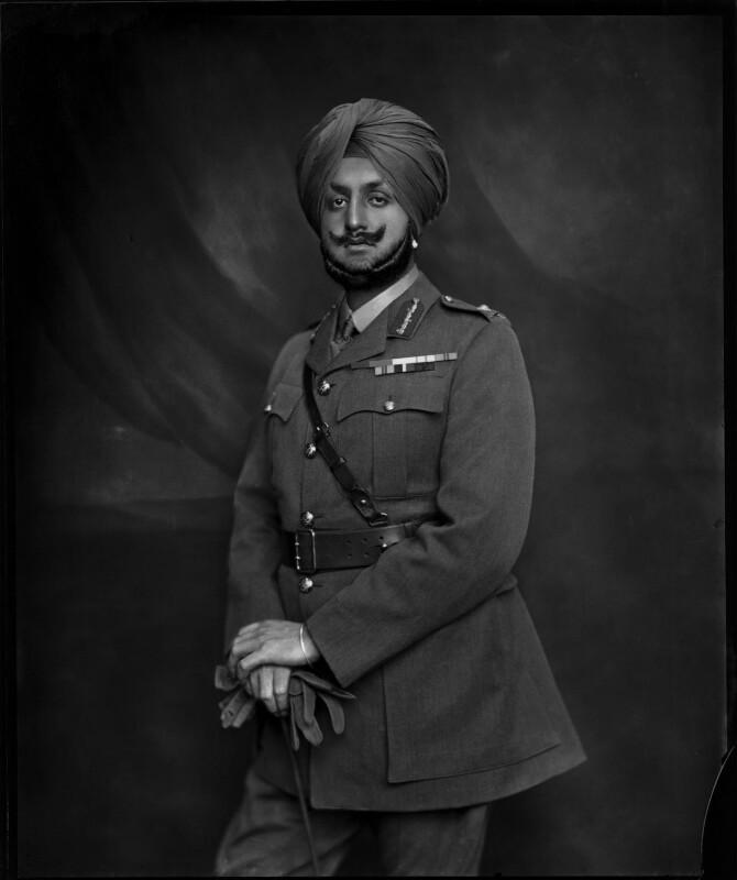 Sir Bhupindra Singh, Maharaja of Patiala, by Vandyk, 22 June 1918 - NPG x34598 - © National Portrait Gallery, London
