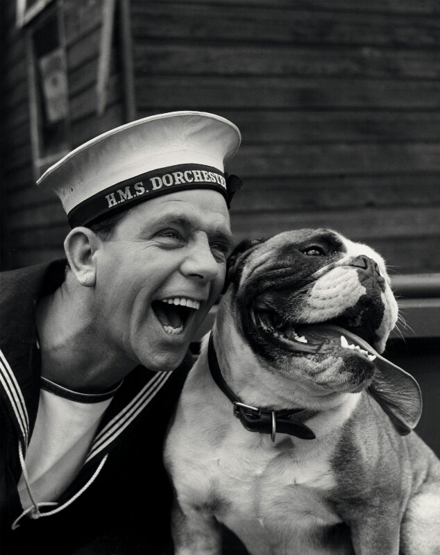 Sir Norman Wisdom as Norman Puckle in 'The Bulldog Breed', by Albert Clarke, 1960 - NPG x34612 - © reserved; collection National Portrait Gallery, London